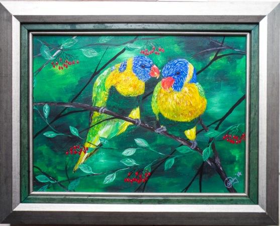 Love Birds 27x35 $10,000