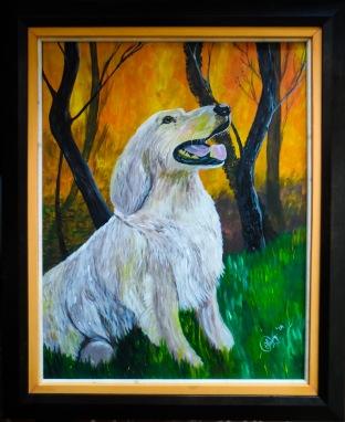 Dog 40x50 cm $12,000