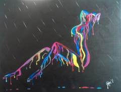 The Dripping Woman 40x50 cm $10,000 - Sold