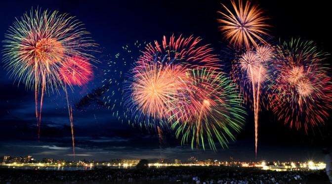New Year's Fireworks Port Royal Jamaica
